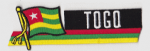 Togo Embroidered Flag Patch, style 01.